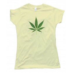 Womens Big Marijuana Leaf Pot Weed Tee Shirt