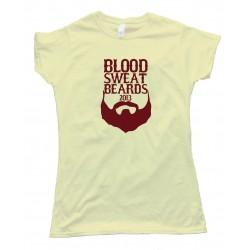 Womens Blood Sweat Beards 2013 Red Sox - Tee Shirt