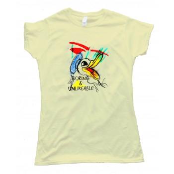 Womens Boring And Unlikable Daffy Duckalike - Tee Shirt