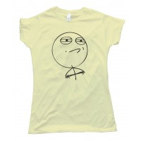 Womens Challenge Accepted Rage Face Shirt Tee Shirt