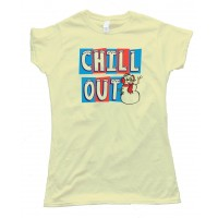 Womens Chill Out Snowman - Tee Shirt
