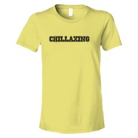 Womens Chillaxing Relaxing Word Feed - Tee Shirt