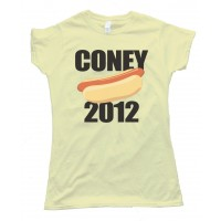 Womens Coney 2012 Hot Dog Tee Shirt