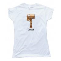 Womens Curious - Mars Rover Head Camera - Tee Shirt