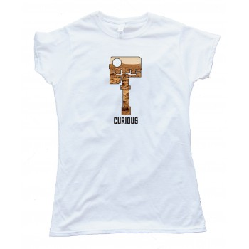 Womens Curious - Mars Rover Head Camera - Tee Shirt