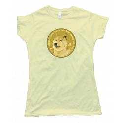 Womens Dogecoin Doge Currency So Crypto Plz Mine Tee Shirt