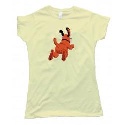 Womens Duck Hunt Dog Leaving - Tee Shirt