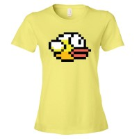 Womens Flappy Bird Video Game Character - Tee Shirt