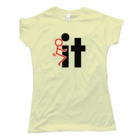 Womens Fuck It Stick Figure Tee Shirt