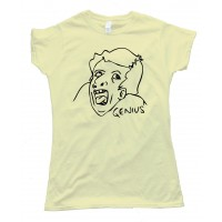 Womens Genius Rage Comic Face Tee Shirt