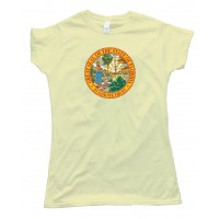 Womens Great Seal Of The State Of Florida State Flag - Tee Shirt