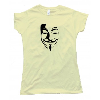 Womens Guy Fawkes Mask - Epic Fail Guy - Tee Shirt
