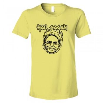 Womens Hail Sagan Carl Sagan Science - Tee Shirt