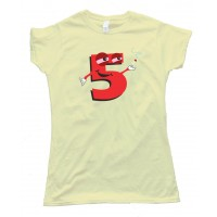 Womens High Five Smoking Number 5 - Tee Shirt