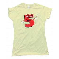 Womens High Five Smoking Number 5 - Tee Shirt