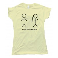 Womens I Got Your Back Stick Figure Tee Shirt