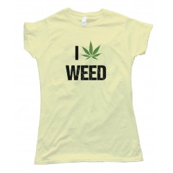 Womens I Love Marijuana Pot Leaf Tee Shirt