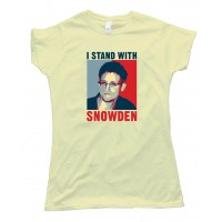 Womens I Stand With Snowden - Tee Shirt