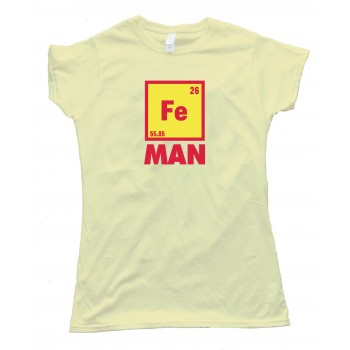 Womens Iron Man Chemical Symbol Tee Shirt