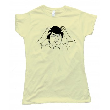 Womens Jackie Chan Rage Comic Face Tee Shirt