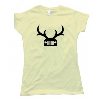 Womens Jeep Deer Antlers Amc - Tee Shirt