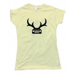 Womens Jeep Deer Antlers Amc - Tee Shirt