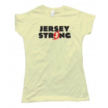 Womens Jersey Strong Hurricane Sandy Superstorm Survivor - Tee Shirt