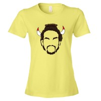Womens Joakim Noah Nair And Horns Chicago Bulls Basketball - Tee Shirt