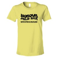 Womens Korova Milk Bar A Clockwork Orange - Tee Shirt