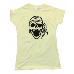 Womens Laughing Pirate Skull - Tee Shirt