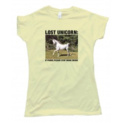 Womens Lost Unicorn - Tee Shirt