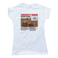 Womens Mission To Mars - Curiosity Rover - Tee Shirt