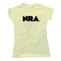 Womens National Rifle Association Text N R A Logo - Tee Shirt