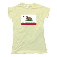 Womens New California Republic Flag Bears - Tee Shirt