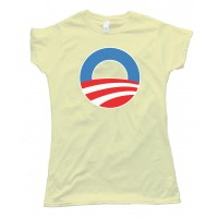 Womens O - The Big O Barrack Obama Symbol - Tee Shirt