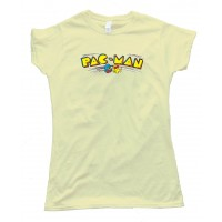 Womens Pacman Classic Video Game Pac Man Logo - Tee Shirt