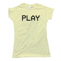 Womens Play Camcorder Text Vcr - Tee Shirt