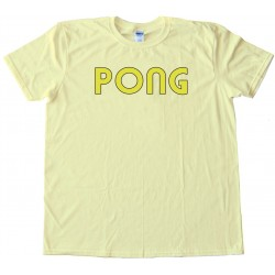 Womens Pong Classic Arcade Game Logo Atari - Tee Shirt