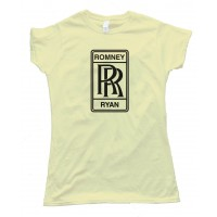 Womens Romney Ryan Rolls Royce Logo - Tee Shirt