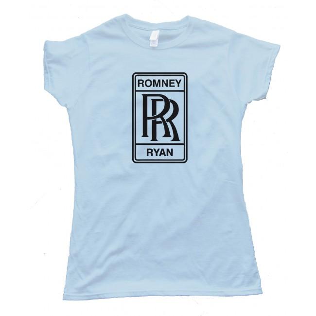 womens romney ryan rolls royce logo tee shirt