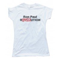 Womens Ron Paul Revolution Love Tee Shirt