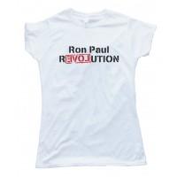 Womens Ron Paul Revolution Love Tee Shirt