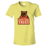 Womens Save The Trees Star Wars Ewok - Tee Shirt