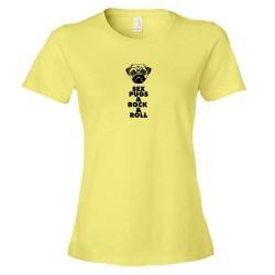 Womens Sex Pugs & Rock & Roll - Tee Shirt