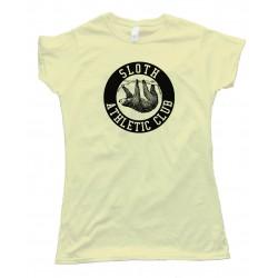 Womens Sloth Athletic Club - Tee Shirt