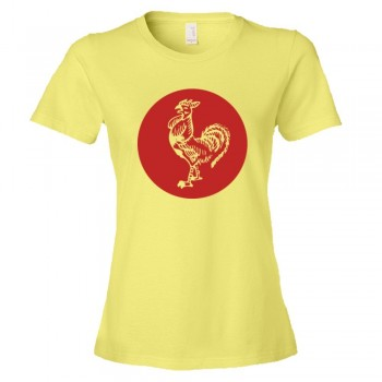 Womens Sriracha Rooster Emblem Logo - Tee Shirt