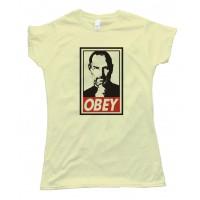 Womens Steve Jobs Obey Tee Shirt