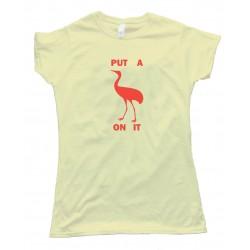 Womens Stork Put A Bird On It - Tee Shirt