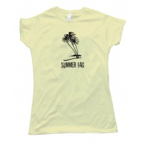 Womens Summer Fag 4Chan - Palm Trees - Tee Shirt