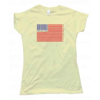 Womens Upc American Flag - Tee Shirt
